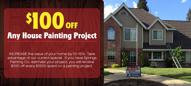 Springs Painting Co - house painting coupon - 100 off