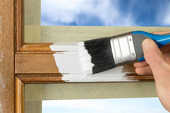 Painting window trim